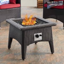 Vivacity Outdoor Patio Fire Pit Table in Espresso