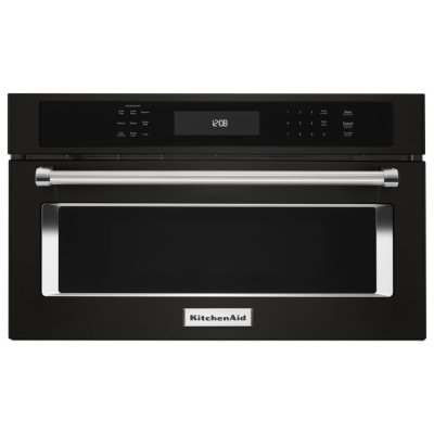 "30"" Built In Microwave Oven with Convection Cooking - Black Stainless Steel with PrintShield™ Finish Product Image"