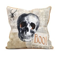 Apothescary Halloween Skull Pillow