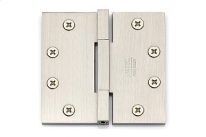 "4-1/2"" x 4-1/2"", Square Barrel Heavy Duty Hinges Square Corners, Solid Brass Product Image"