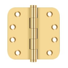 "4""x 4""x 5/8"" Radius Hinges - PVD Polished Brass"