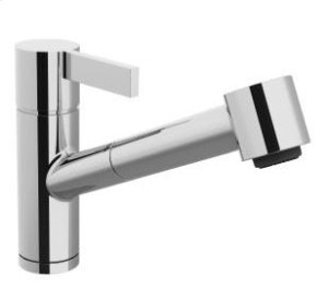 Single-lever mixer with pull-out spout with spray function - chrome Product Image