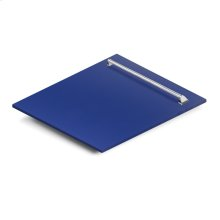 "24"" Dishwasher Panel in Blue Matte with Traditional Handle (DP-BM-24)"