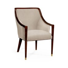 Contemporary Antique Mahogany Dining Chair, Upholstered in MAZO