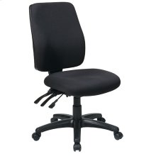 High Back Dual Function Ergonomic Chair with Ratchet Back Height Adjustment