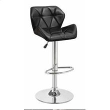 Adjustable Bar Stool, Black