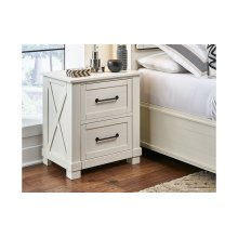 NIGHTSTAND w/ USB & Hidden Drawer