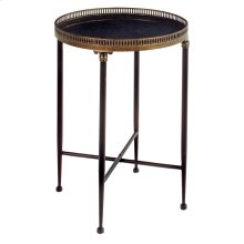 Round Black Accent Table