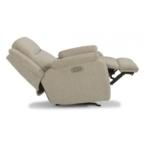 Magnus Fabric Power Recliner with Power Headrest