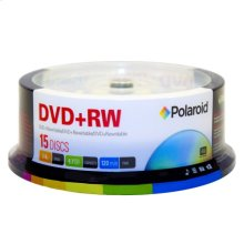 Polaroid DVD+RW 4.7GB/120-Minute 4x Rewritable DVD Disc PRDVDPRW15S, 15-Pack Spindle