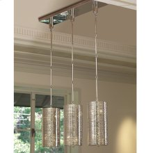 Coil 3 Light Pendant-Nickel