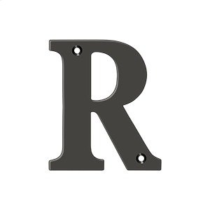 """4"""" Residential Letter R - Oil-rubbed Bronze Product Image"""