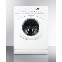 "Deluxe 24"" wide washer/dryer combo in white built by Ariston for non-vented use, with 15 lb. wash capacity"