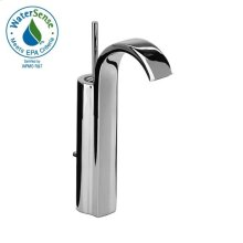Single Control Monoblock Vessel Faucet w/ Drain Assembly - Polished Chrome