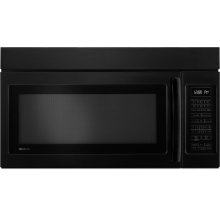 "Over-the-Range Microwave Oven with Convection, 30"", Black Floating Glass w/Handle"