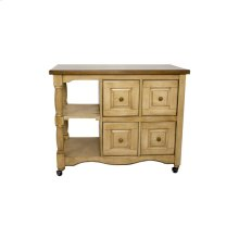DCY-CRT-03-PW  Brook Four Drawer Kitchen Cart