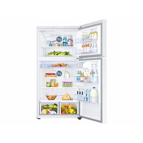 21 cu. ft. Top Freezer Refrigerator with FlexZone in White