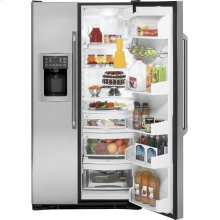 CLEARANCE GE Cafe Series ENERGY STAR® 25.7 Cu. Ft. Side-By-Side Refrigerator with Dispenser