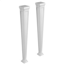 Pair of pedestal sink legs in Cristalplant® Matte white Optional installation with 48813 or 48815