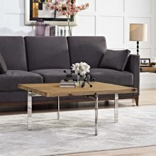 Diverge Wood Coffee Table in Brown