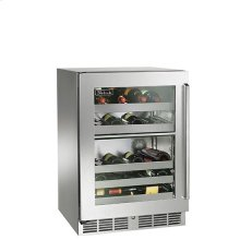 """24"""" Signature Series Dual-Zone Wine Reserve with optional extra shelving - Floor Model"""