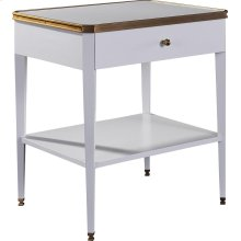 Austell Side Table with Drawer & Stone Top
