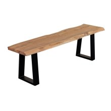 Manzanita Natural Acacia Bench with Different Bases, VCA-BN60N