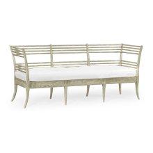 Toby's Grey Oak Sofa, Upholstered in COM