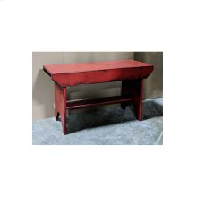 Bucket Bench - Vintage Berry over Black