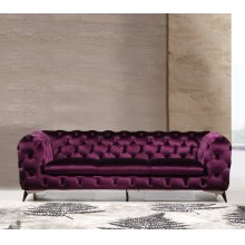 Divani Casa Delilah Modern Purple Fabric Sofa