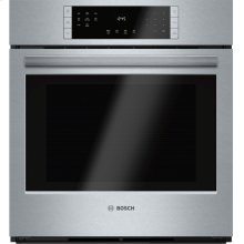 """800 Series, 27"""", Single Wall Oven, SS, EU Convection, Touch Control"""