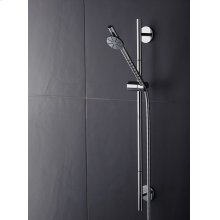 Shower rail (Standard length 700 mm) with hand shower and hose T60 - Light blue