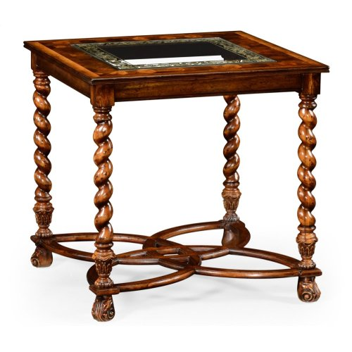 """Oyster & eglomise side table (26"""")"""
