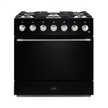 AGA Mercury 36 Dual Fuel Gloss Black with Chrome trim