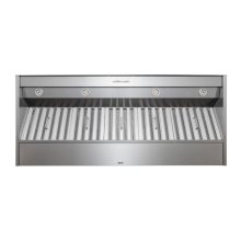 "60"" Stainless Steel Built-In Range Hood for use with External Blower Options"
