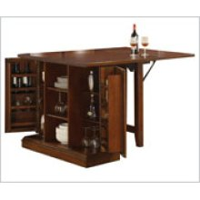 Counter height kitchen island