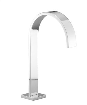 Tub spout without diverter for deck-mounted installation - chrome Product Image