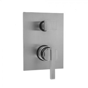 Antique Brass - Rectangle Plate with CUBIX® Lever Thermostatic Valve with Cube Built-in 2-Way Or 3-Way Diverter/Volume Controls (J-TH34-686 / J-TH34-687 / J-TH34-688 / J-TH34-689) Product Image