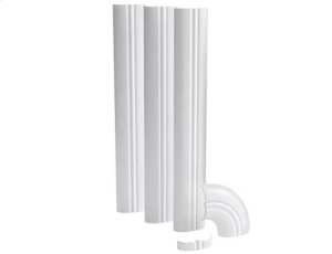 White Cable Tunnel; Decorative channel to conceal and route AV cables Product Image