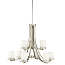 Hendrik 9 Light Chandelier Brushed Nickel