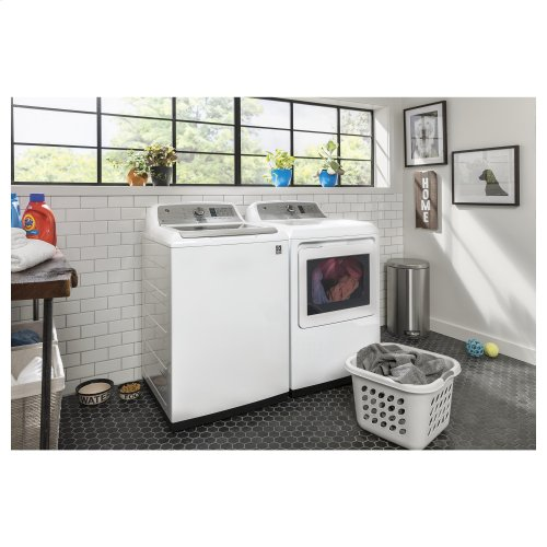 GE® 4.9 cu. ft. Capacity Smart Washer with Stainless Steel Basket