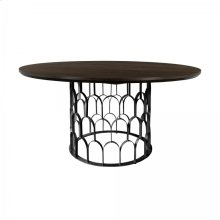 Gatsby Oak and Metal Round Dining Table
