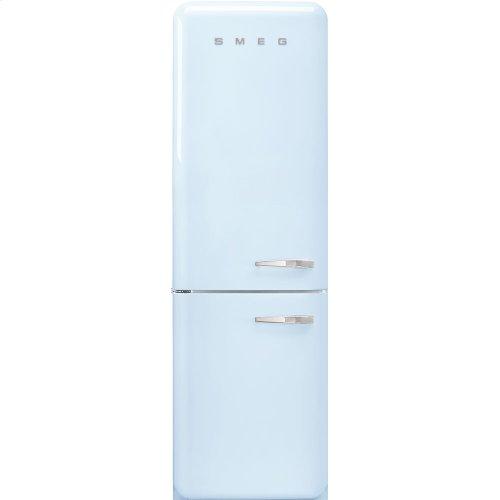 "'50s Style No Frost' Fridge-Freezer, Pastel Blue, Left Hand Hinge, 60 cm (Approx 24"")"