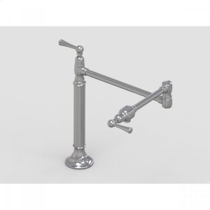 """Brushed Stainless - 19 3/8"""" Deck Mount Pot Filler with Metal Lever Product Image"""