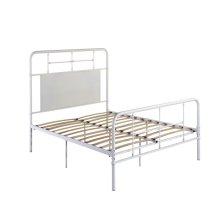 3/3 Twin Iron Headboard-footboard-rails-white Finish