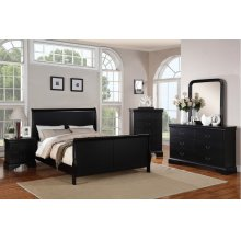 F9230Q / Cat.19.p121- QUEEN BED BLK MW F4725/6/7/8