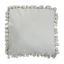 """Rhoda Tassel Square Pillow (22"""" X 22"""") - Oatmeal"""