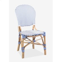 Isabel Outdoor Chair - White/Blue MOQ 2 (18.5x24x36) (package: 2pcs/box) price is per piece