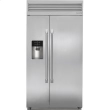 """Monogram 42"""" Built-In Professional Side-by-Side Refrigerator with Dispenser"""