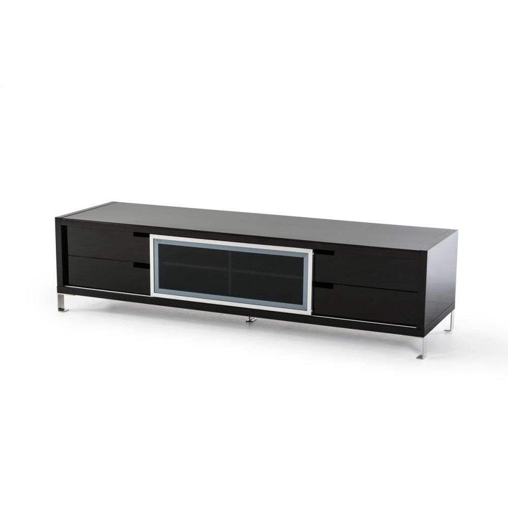 Modrest Edward Modern Black High Gloss TV Stand
